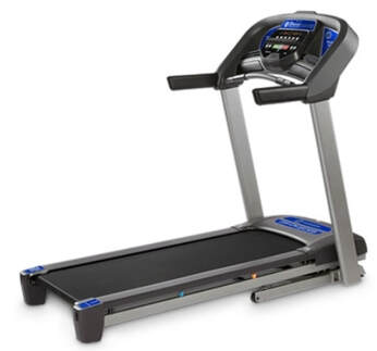 Horizon Fitness T101 Treadmill - side view