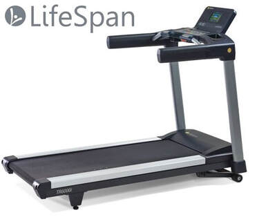 LifeSpan TR6000i Light Commercial Treadmill - side view