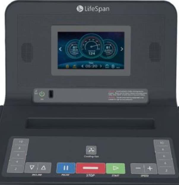 LifeSpan Fitness TR4000i treadmill console and display