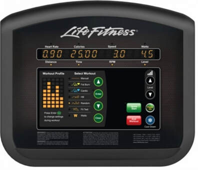Life Fitness Activate Treadmill console