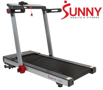 Sunny Health & Fitness TR7951 Treadmill - side view